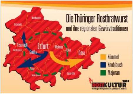 Die Thüringer Rostbratwurst und ihre Gewürztraditionen